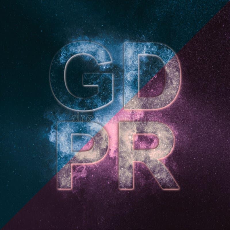 Cyber prywatność i ochrona Ogólnych dane ochrony przepis ilustracja wektor