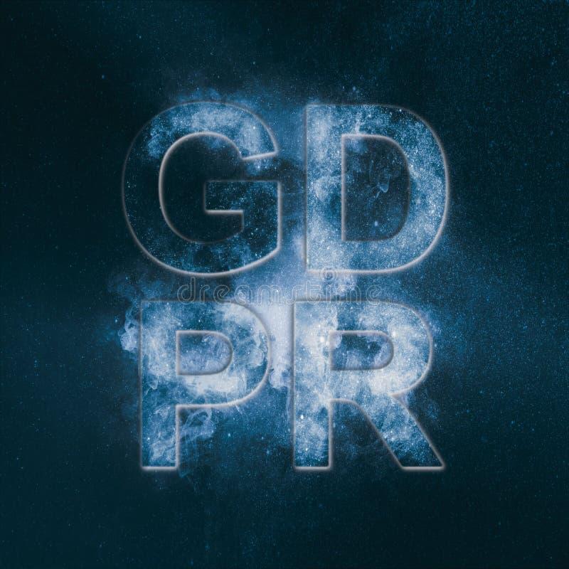 Cyber prywatność i ochrona Ogólnych dane ochrony przepis royalty ilustracja
