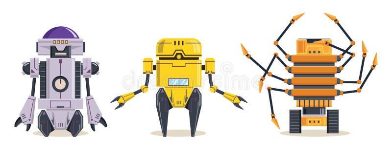 Cyber Robots-karakter Technologie, toekomst Tekenvector illustratie vector illustratie