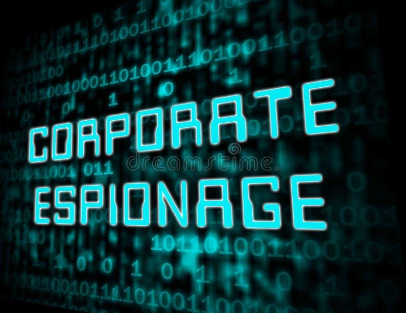 Cyber secret d'espionnage d'entreprise entaillant l'illustration 3d illustration stock