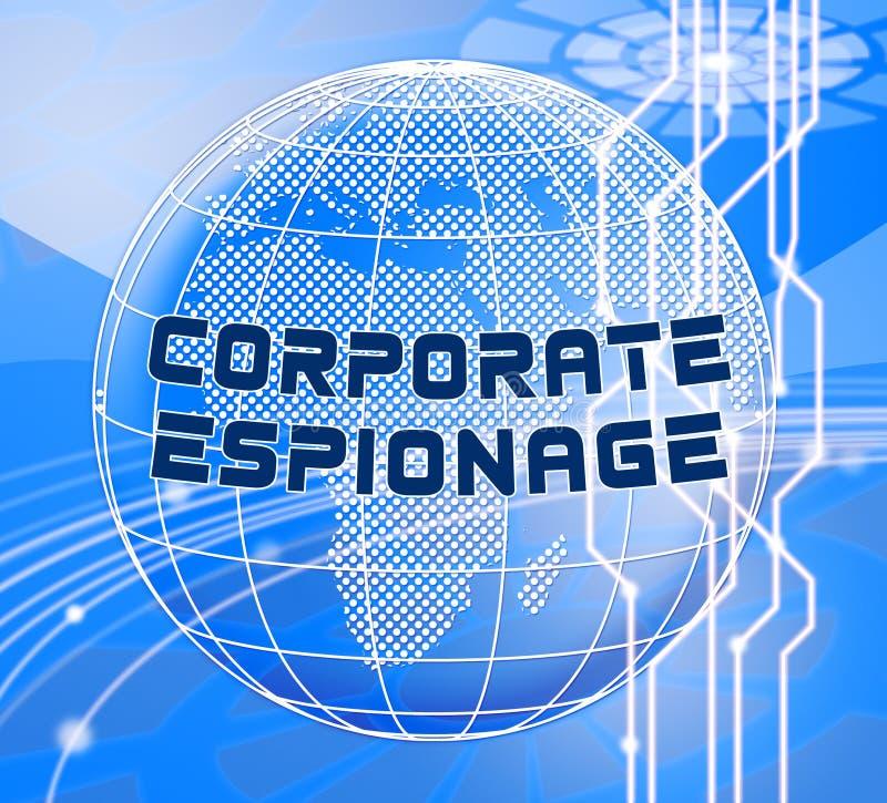 Cyber secret d'espionnage d'entreprise entaillant l'illustration 3d illustration libre de droits