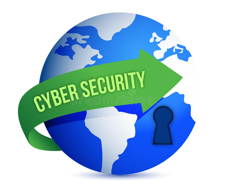 Cyber Security Arrow With Lock on The Globe