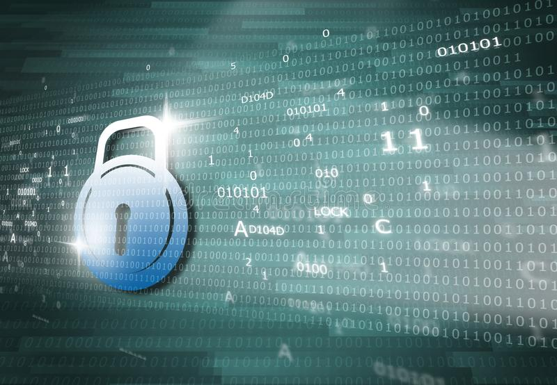 Cyber security concept royalty free illustration