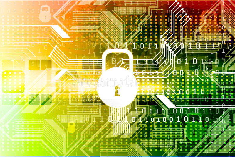 Cyber security concept stock illustration