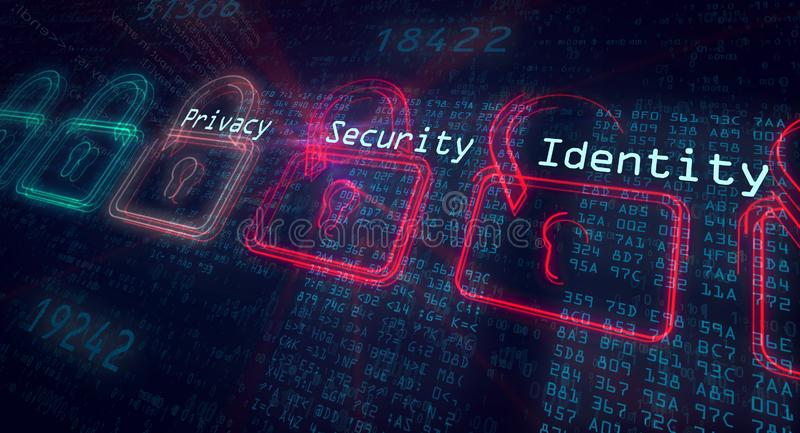 Cyber security concept stock photos
