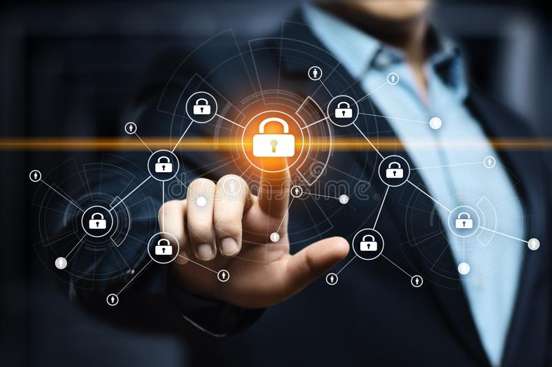 Cyber Security Data Protection Business Technology Privacy concept royalty free stock images