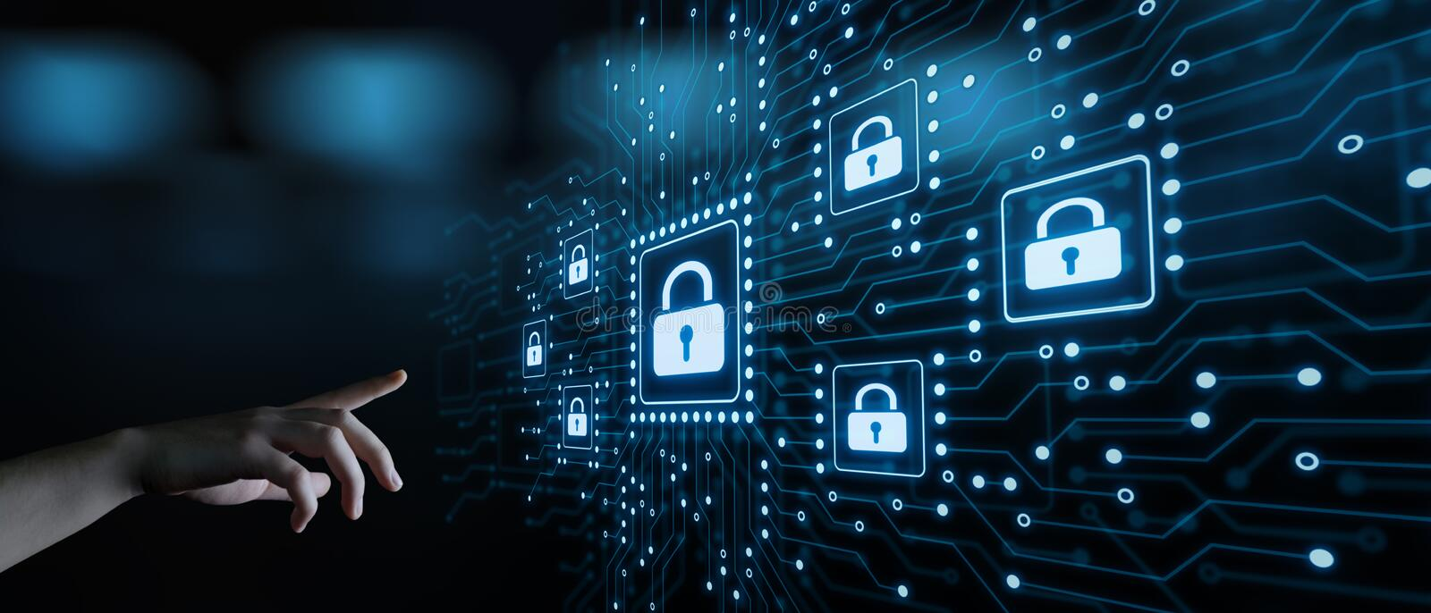 Cyber Security Data Protection Business Technology Privacy concept.  stock image