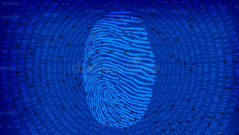 Cyber Security Data Protection Business Technology Privacy concept. Hand, confidential. royalty free illustration