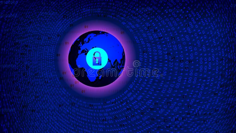Cyber Security Data Protection Business Technology Privacy concept. Hand, confidential. vector illustration
