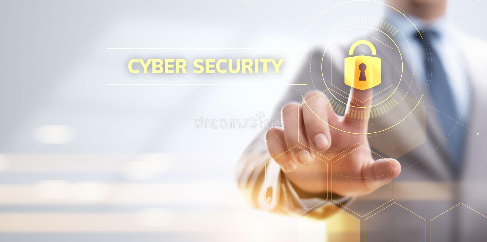 Cyber security data protection information privacy internet technology concept. royalty free illustration