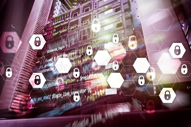 Cyber security, data protection, information privacy. Internet and technology concept.  stock photos