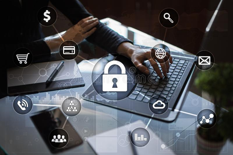Cyber security, Data protection, information safety and encryption. stock photography