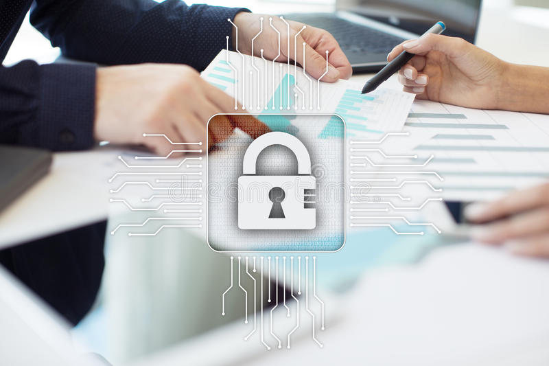 Cyber security, Data protection, information safety. technology business concept royalty free stock images