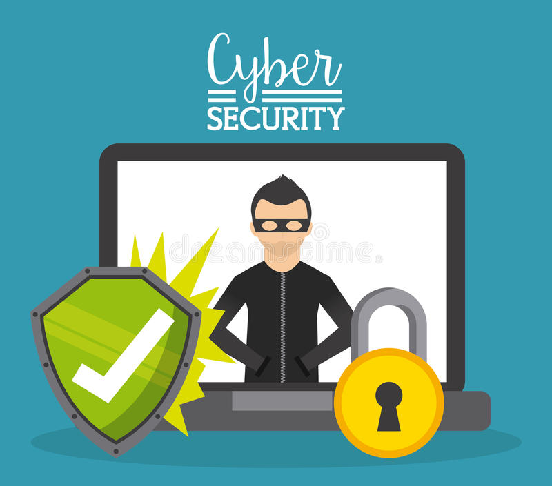 Cyber security royalty free illustration