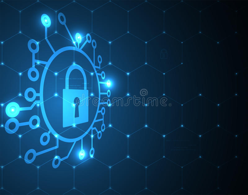 Cyber security and information or network protection. Future technology web services for business and internet project. Cyber security and information or network vector illustration
