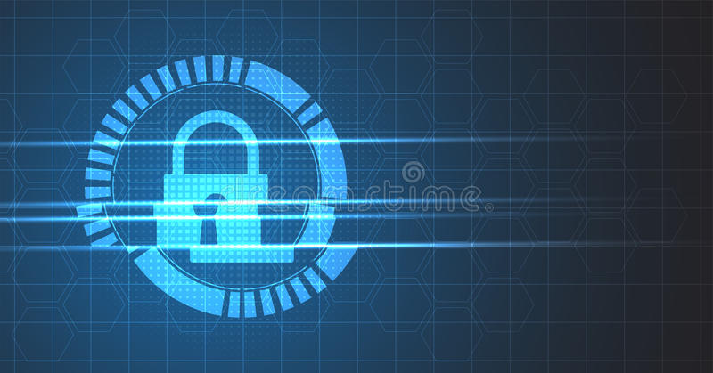 Cyber security and information or network protection. Future technology web services for business and internet project stock illustration