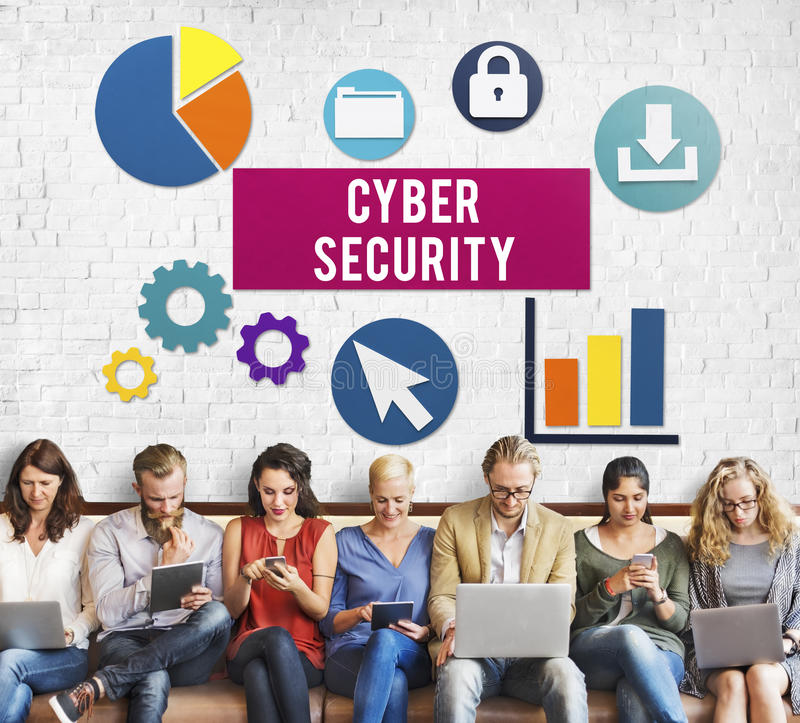 Cyber Security Protection Lock Privacy Concept royalty free stock photography