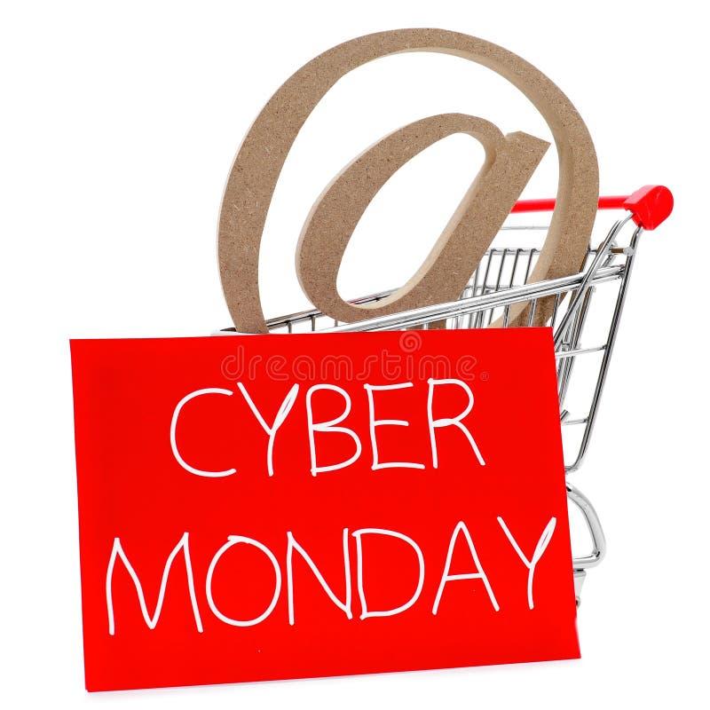 Cyber segunda-feira fotografia de stock royalty free