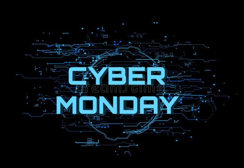 Cyber segunda-feira ilustração royalty free