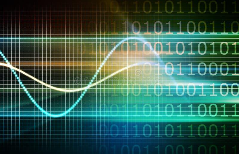 Cyber-Sicherheits-Netz stock abbildung