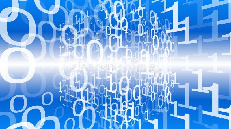 Binary Code Stream, Big Data Exchange Project, Futuristic ...