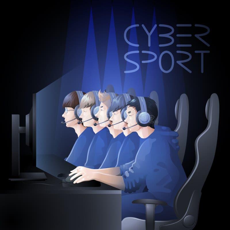 Cyber sport design royalty free illustration