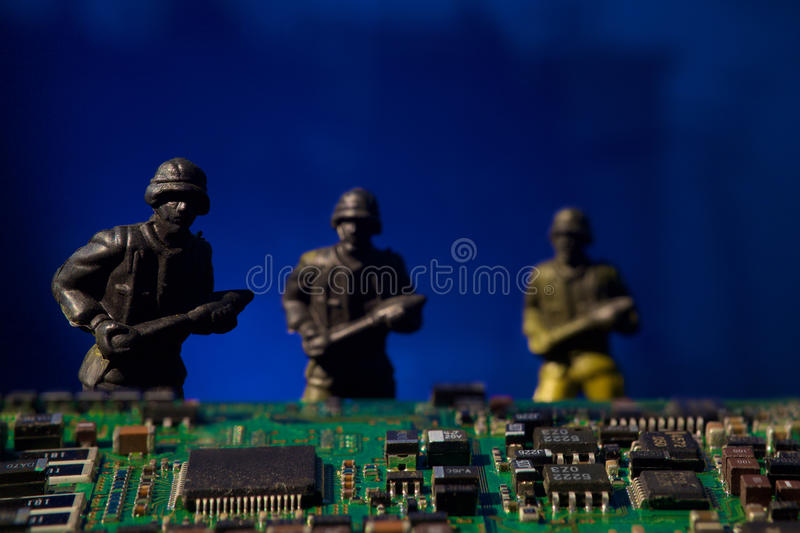 Cyber terrorism concept computer bomb royalty free stock images