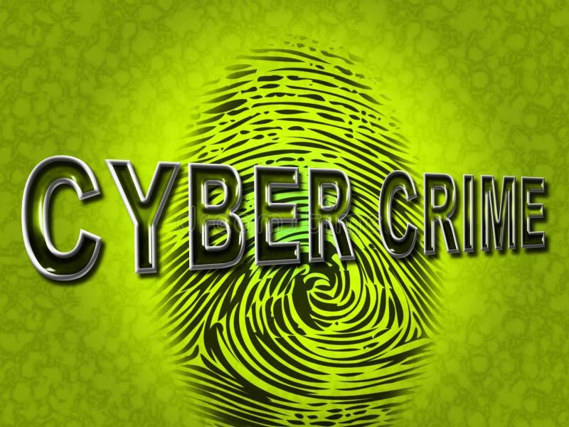 Cyber-Verbrechen zeigt Spyware-Schadsoftware und Häcker an stock abbildung