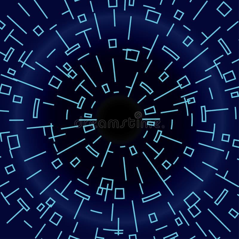 Cyber wormhole royalty-vrije stock afbeeldingen