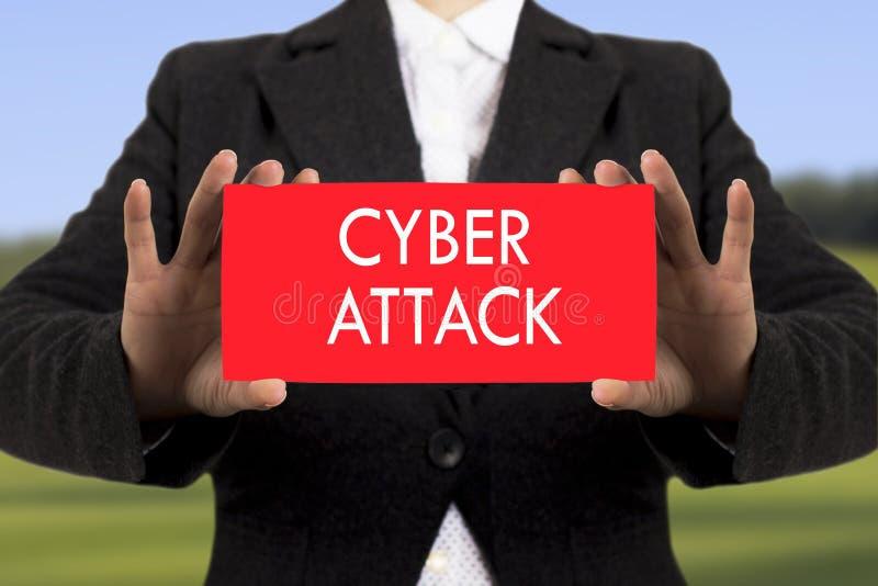 Cyberaanval stock afbeelding