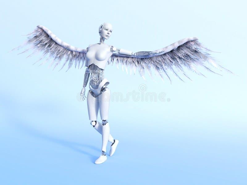 Cyberangel ilustracja wektor
