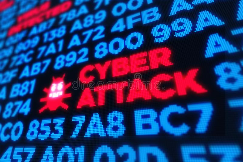 Cyberangriff durch Computerwurm stockfoto