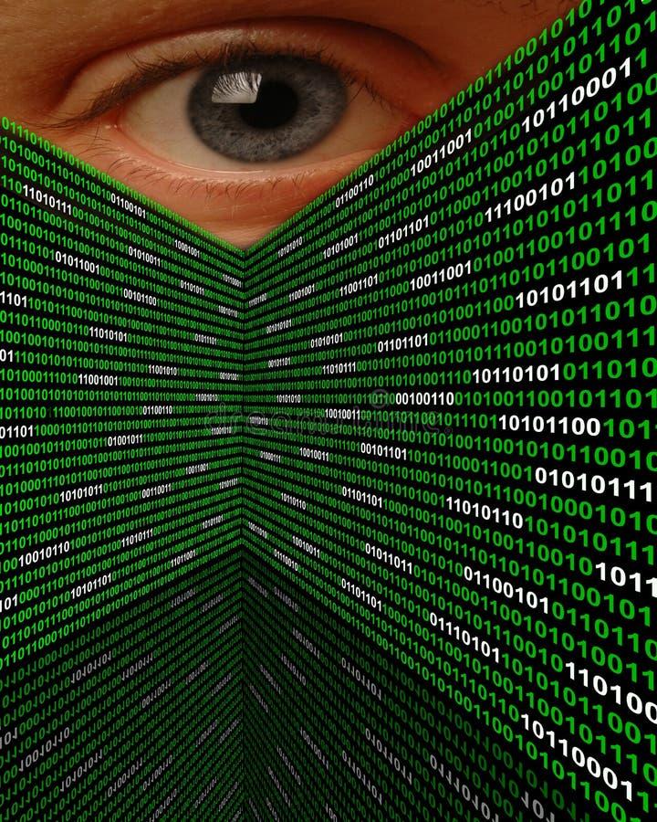 Cyberanpirschendes Spyware-Auge Stockbild