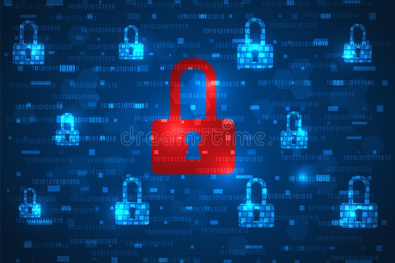 Cyberattack. Security breach and risk analysis. stock images