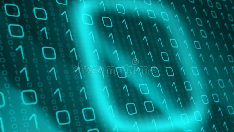 Cyberattackhot, maskinlärande problem för konstgjord intelligens vektor illustrationer