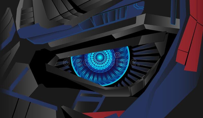 Cyberaugen-Hintergrundvektor lizenzfreies stockfoto
