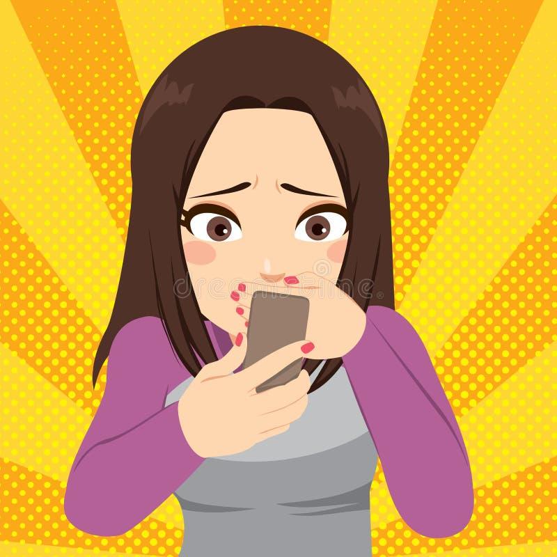 Cyberbullismo Smartphone illustrazione vettoriale