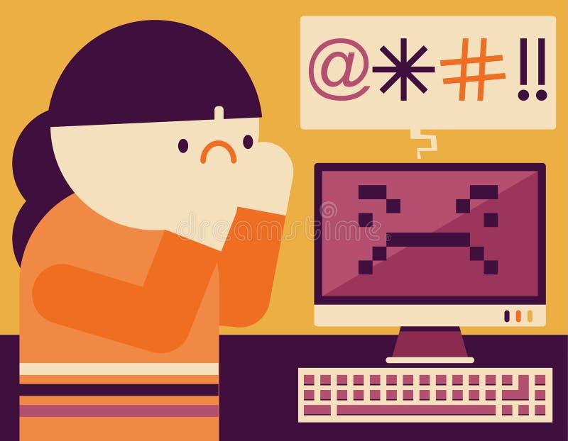 Cyberbullying fotos de archivo libres de regalías
