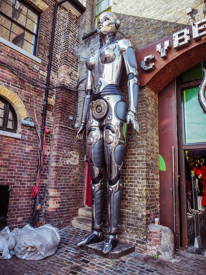 Free Cyberdog Space And Futuristic Fashion Shop In Stables Camden Market Royalty Free Stock Photos - 170735438