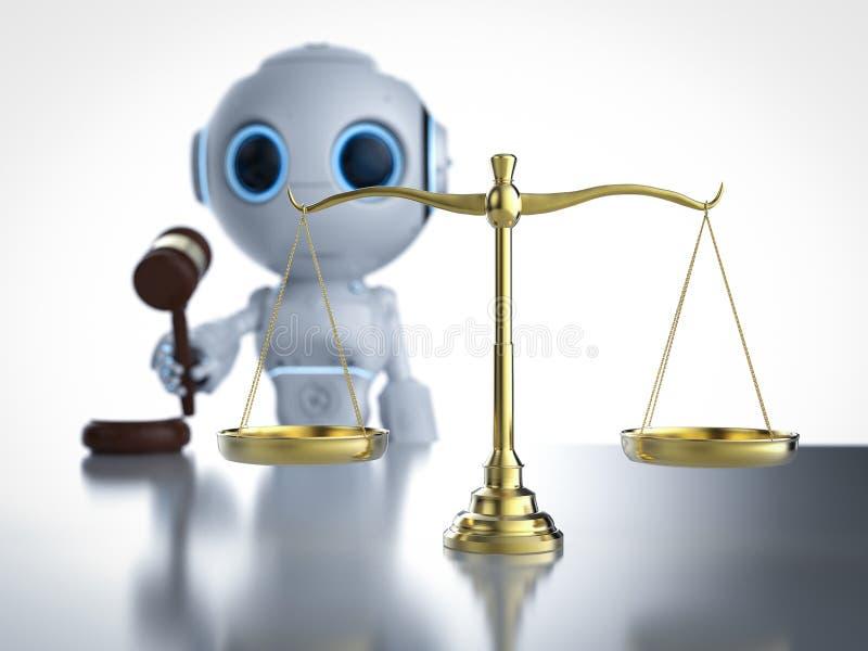 Cybergesetz oder Internet-Gesetzeskonzept vektor abbildung