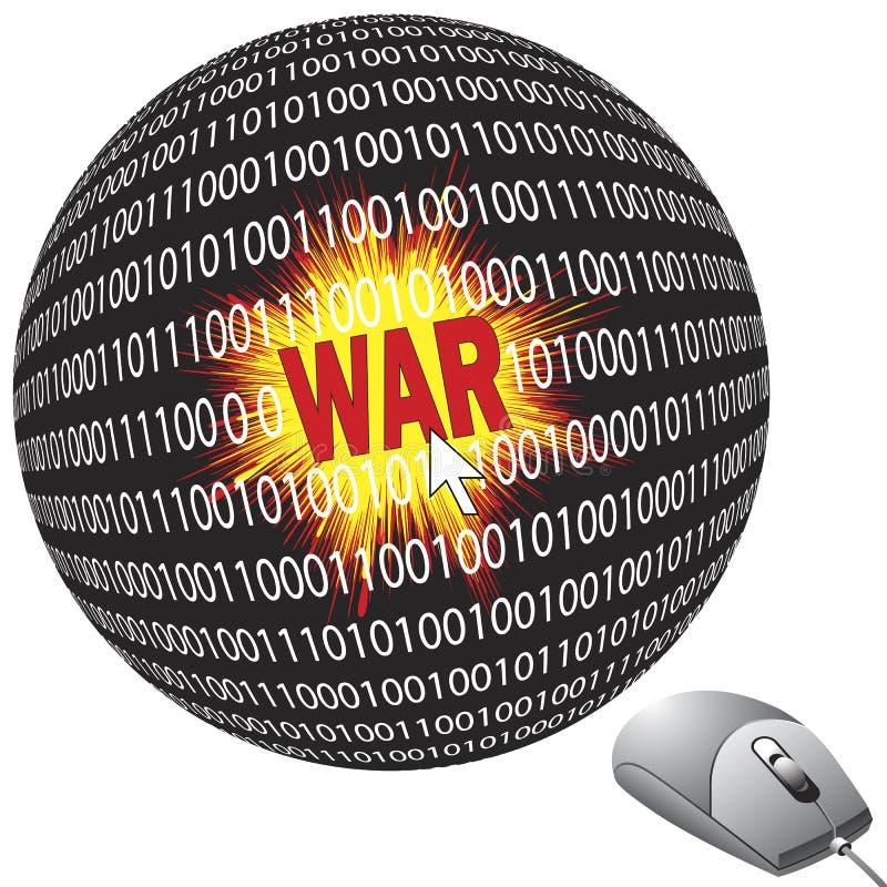 Cyberguerre illustration libre de droits