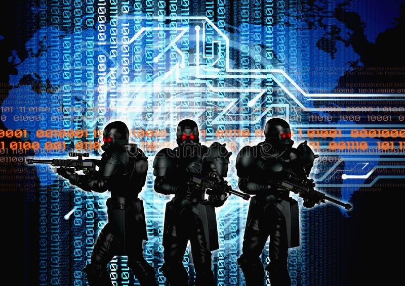 Cyberkrig arkivfoton