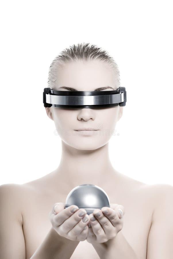 cyberkvinna arkivbild