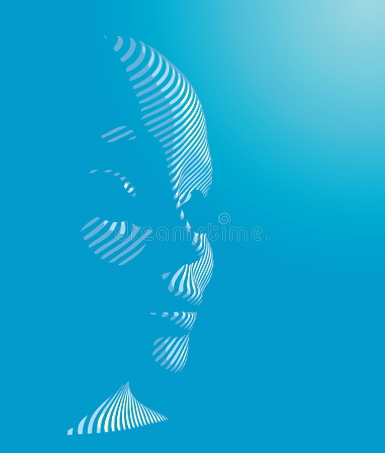 Cyberman illustration stock