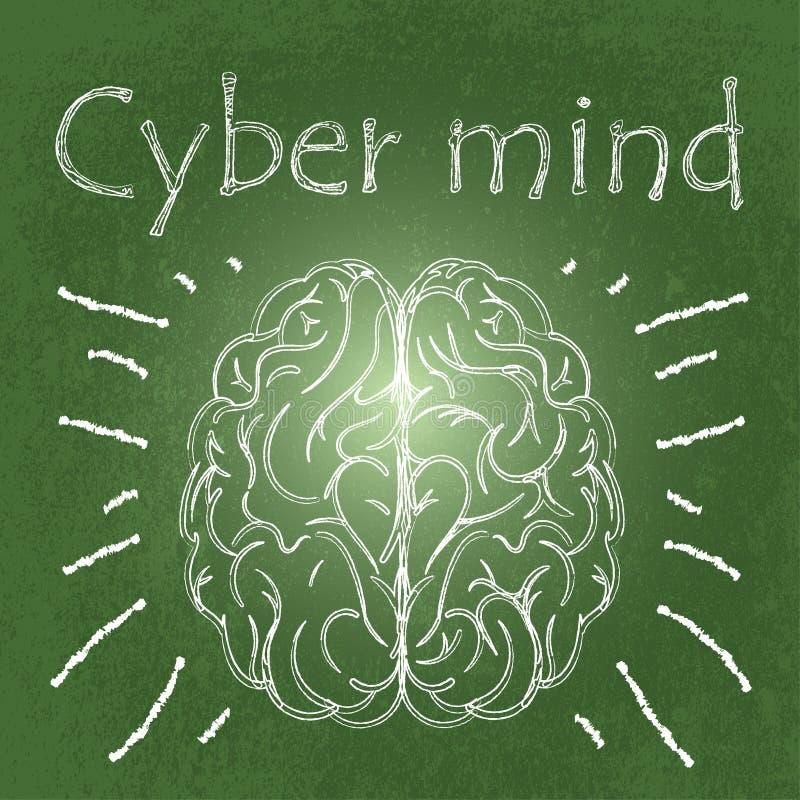 Cybermening stock illustrationer