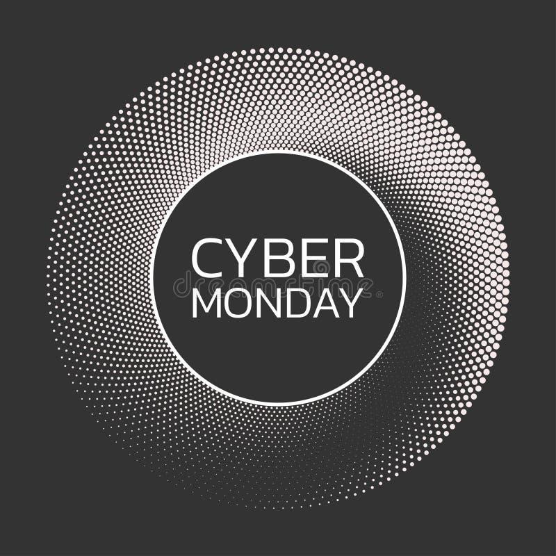 Cybermontag-Verkaufshintergrund Fahnenschablone Auch im corel abgehobenen Betrag vektor abbildung