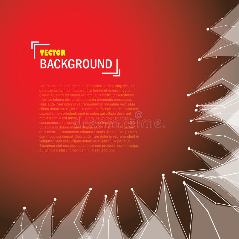 Cybernetic technology background with lines and triangle shapes royalty free illustration