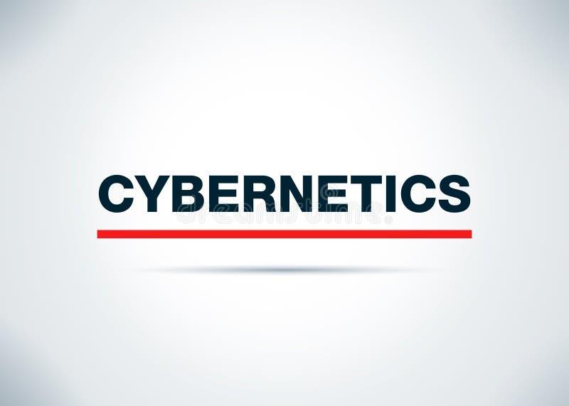 Cybernetica Abstracte Vlakke Achtergrondontwerpillustratie royalty-vrije illustratie