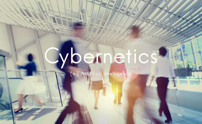 Cybernetics Artificial Intelligence Technology Graphic Concept royalty free stock photo