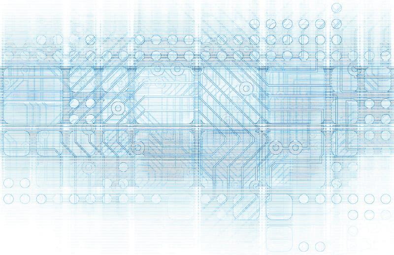Cybernetik royaltyfri illustrationer